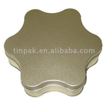 Star Shaped Tin Box (Tin Star Shaped Box)