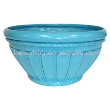 Glazed Fiberglass Planter