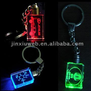 Crystal Keychains with LED (Crystal Брелки со светодиодной)
