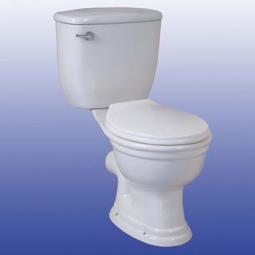 Close-Coupled Toilet
