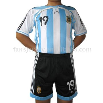 06/08 Argentina Home #19 Crespo Jersey