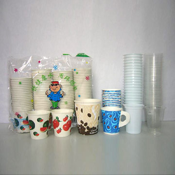 Paper Cup and Plastic Cup