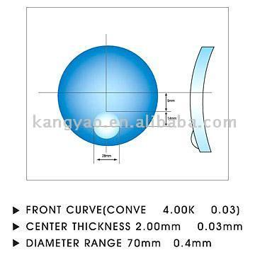 CR39 1.499/1.56 Round Top Bifocal Lens (CR39 1.499/1.56 раунде Топ Бифокальные объектива)