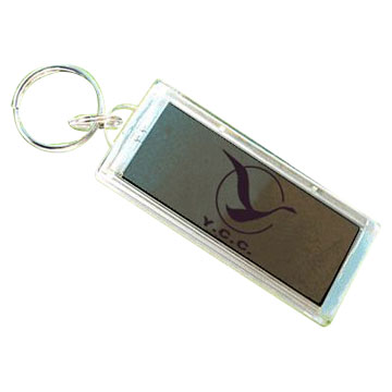 Waterproof Solar Powered Key Chain (Flashing LCD)