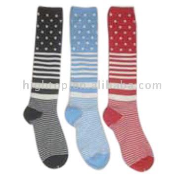 Ladies` Kneehigh Sock