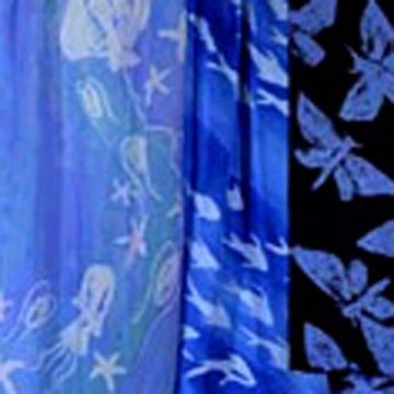 Printed Silk Scarf (Печатный шелковый шарф)