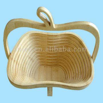 Folding Bamboo Fruit Basket
