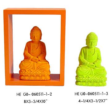 Colored Flock Buddha (Цветной Flock Будду)