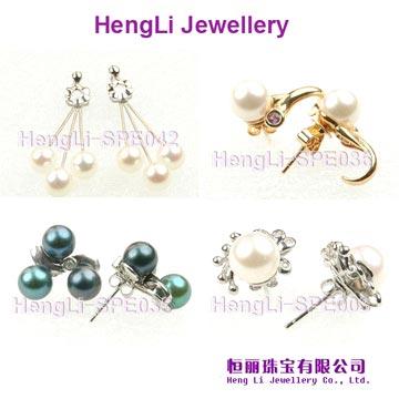 Seawater Pearl Earrings (Meerwasser Perlen Ohrringe)