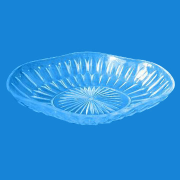 Crystal Clear Plastic Luau Tray (Diamond Cut Design) (Crystal Clear Луау пластиковых лотков (Diamond Cut Design))