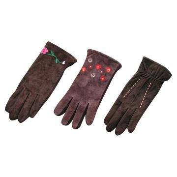 Ladies` Pig Suede Glove