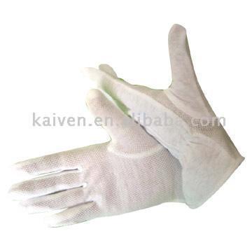 Cotton Gloves With Mini PVC Dotting (Хлопчатобумажные перчатки с ПВХ мини чертящий пунктиром)