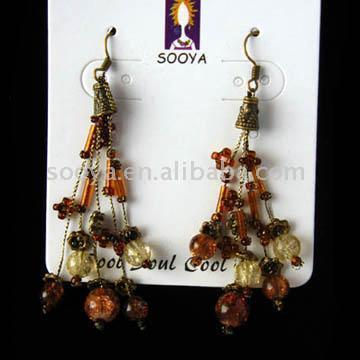 Beaded earrings серьги из бисера