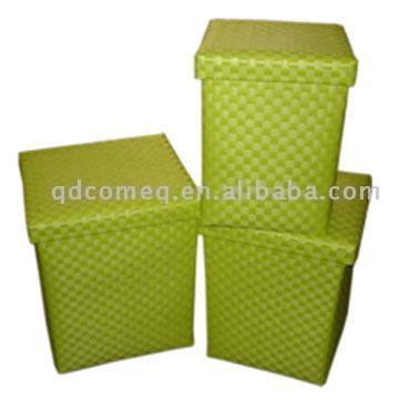 Fashion Plastic Storage Basket with Lids