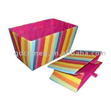Folding Paper Fabric Korb mit Fashion Stripe Color (Folding Paper Fabric Korb mit Fashion Stripe Color)