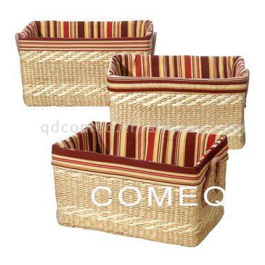 Grass Woven Storage Basket (Травы тканые хранения корзины)