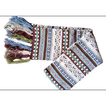 Mens` Jacquard Knit Scarf (Мужская жаккард вязать шарф)