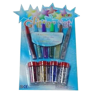 10pc Glitter Glue Set (10PC Glitter Set Клей)