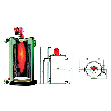 Vertical Oil (Gas) Burning Furnace