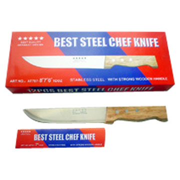 Kitchen Knife with Wooden Handle