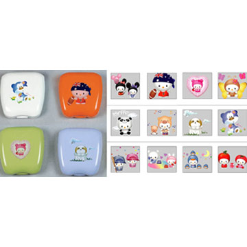 Contact Lens Case (Cartoon Style) (Kontakt Lens Case (Cartoon-Stil))
