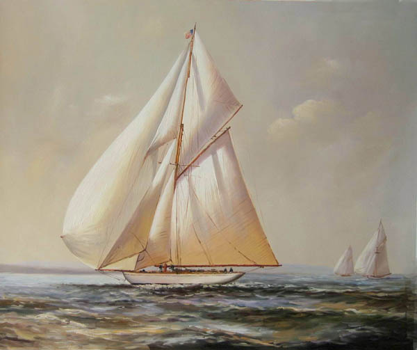 Boat Scene Oil Painting ( Boat Scene Oil Painting)