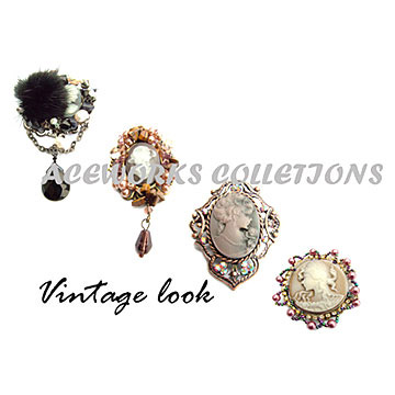 Brooch in Vintage Look (Brosche im Vintage Look)