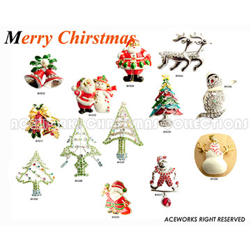 Christmas Theme Brooches (Christmas Theme Broschen)
