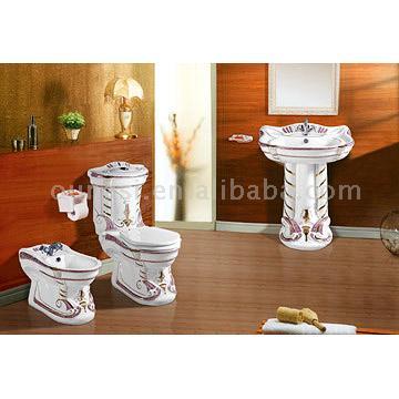 Golden Decorated Sanitary Ware (Награжден золотой сантехники)