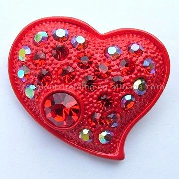 Heart-Shaped Brooch (Heart-Shaped Brosche)
