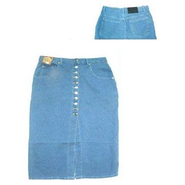 Stock Ladies` Jeans Skirts (Фондовый Женские джинсы Юбки)