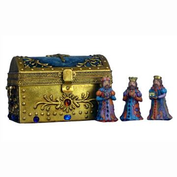 3 Kings with Jewelry Box of Nativity (3 царей с Jewelry Box Рождество)