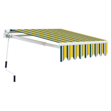 Retractable Awning with Steel Hand-Crank
