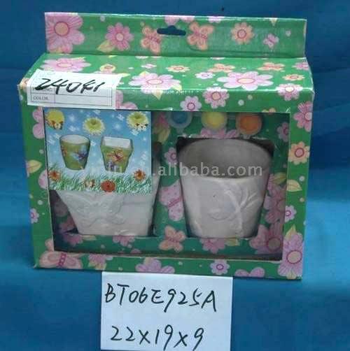 DIY Ceramic Flower Pot (DIY керамический цветочный горшок)
