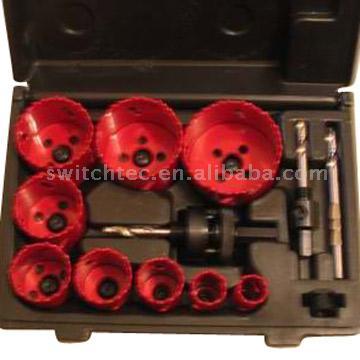 13pc Bi-Metal Hole Saw Kit (13pc биметаллических Hole Saw Kit)
