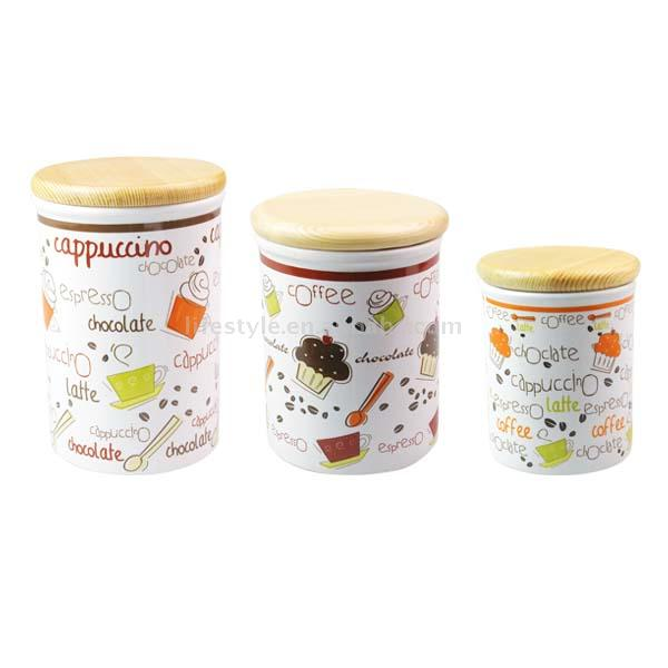3pc Ceramic Canister Set