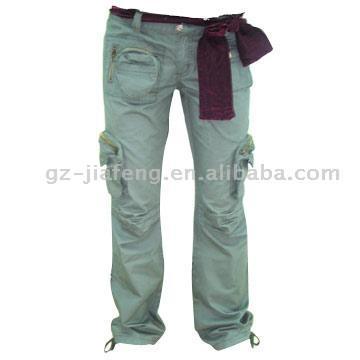 Грузовой Женские брюки. Product Name Ladies Cargo PantsModel Number