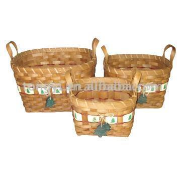 Oval Christmas Basket