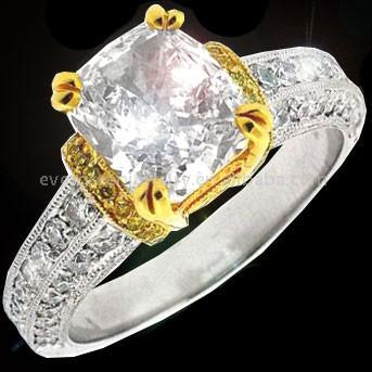 GORGEOUS ANTIQUE DIAMOND RING MOUNTINGS WITH MILGRAIN ACCENTS