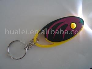 LED Fish Shaped Key Chain