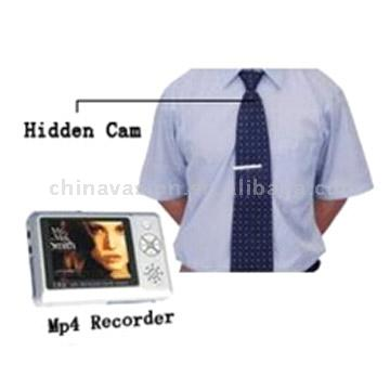 Pinhole Hidden Camera In Tie with MP4 Player Video Recorder (Пинхол Скрытая камера в Галстук с MP4 Player Video Recorder)