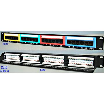 24 Ports Cat6 Patch Panel (24 портов Cat6 патч-панель)