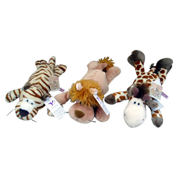 Cartoon Tiger, Lion, and Leopard