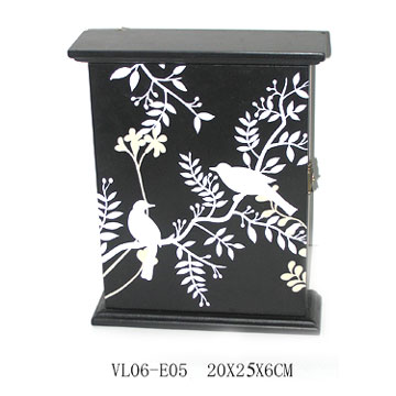 wooden key box wooden key box with white black design