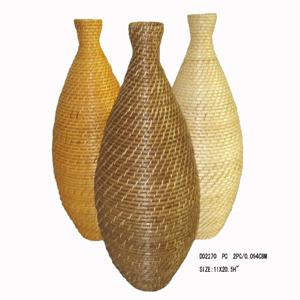 Rattan Vase W/Tongyi