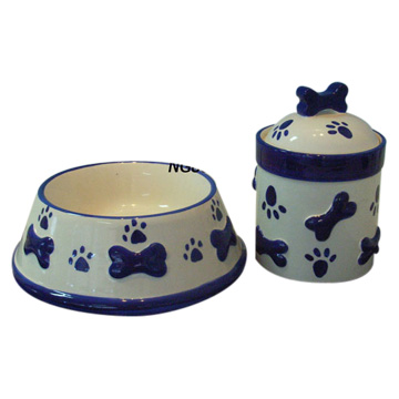 Ceramic Dog Bowl (Керамическая чаша собак)