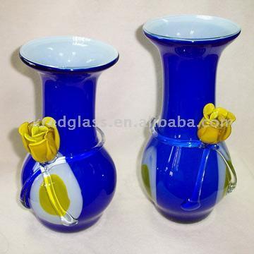 Shopzilla - Blue Glass Vases Vases shopping - Home & Garden online