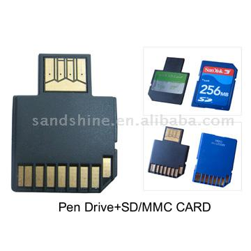 3C Card (USB Drive+SD/MMC Card 3-In-1) (3C Card (USB Drive + SD / MMC карт 3-в ))
