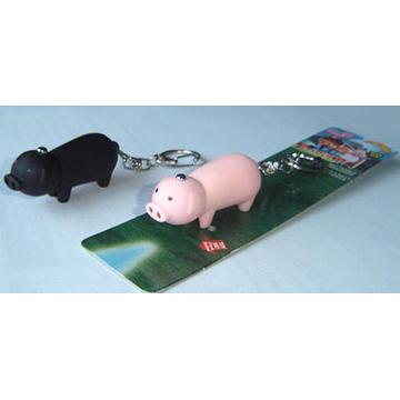 LED Pig Key Chain