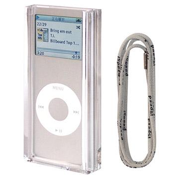 Crystal Clip and Lanyard Compatible with iPod Nano (Crystal Clip и Ремешок Совместим с Ipod Nano)